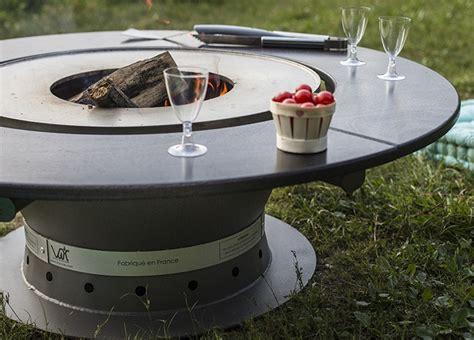 leroy merlin peinture meuble cuisine table basse braséro plancha fusion bois jardinchic