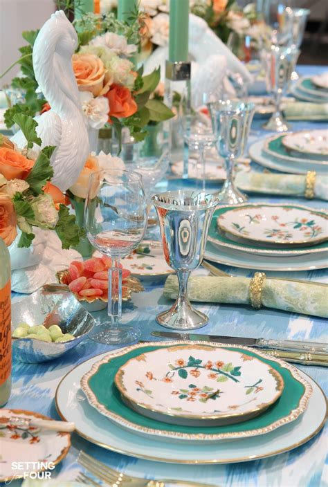 table setting ideas easter decorating ideas with easter eggs setting for four