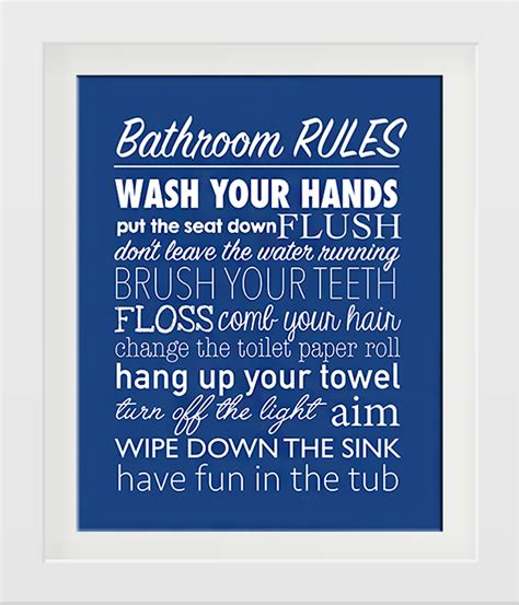 Bathroom Rules Free Printable  How To Nest For Less™