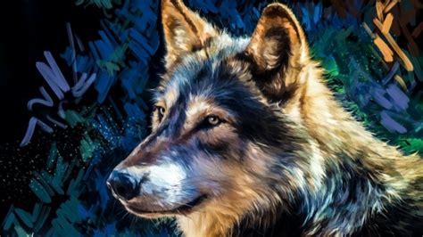 Digital Wolf Wallpaper by 1366x768 Wolf Painting Digital Majestic