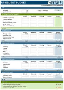 wedding planner license retirement budget planner free template for excel