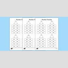 Number Families Multiplication And Division Worksheet Activity