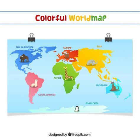 Carte Du Monde Gratuite by Carte Du Monde Color 233 T 233 L 233 Charger Des Vecteurs Gratuitement