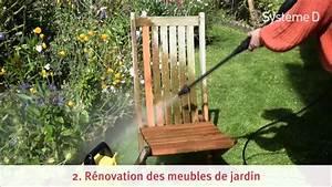 reparer et renover les meubles de jardin en bois youtube With comment restaurer un vieux meuble en bois