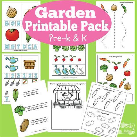 garden printable preschool  kindergarten pack