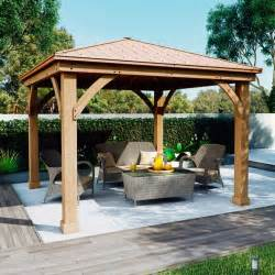 wooden pergola with roof costco uk solowave 12 x 12ft 3 6 x 3 6m cedar pergola with peaked aluminium solid roof