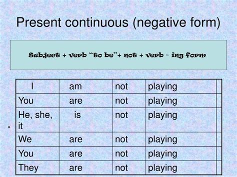 ppt the present continuous tense verb sleep