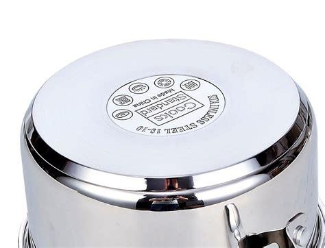 cookware steel stainless cooks standard classic piece brands brand housewares quart