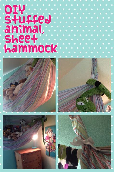 How To Make A Hammock With A Sheet by Diy Stuffed Animal Sheet Hammock It S Easy And