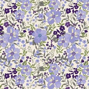 Lavender Floral Tropic Fabric By The Yard Purple Fabric