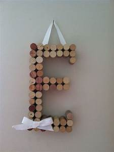 wine cork letter arts and crafts pinterest cork With wine cork crafts letters