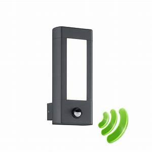 Applique Exterieur Led Avec Detecteur : rhine applique led exterieur gris anthracite 2x4 5w avec ~ Dailycaller-alerts.com Idées de Décoration