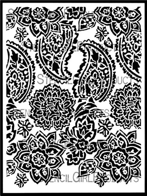 paisley floral repeat stencil jessica sporn