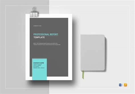 sample professional report template   documents