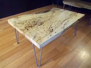 hand made live edge spalted maple square coffee table by With maple live edge coffee table