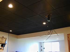 Installing recessed lighting in drop ceiling panels