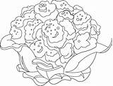 Cauliflower Coloring Sheet Pages sketch template