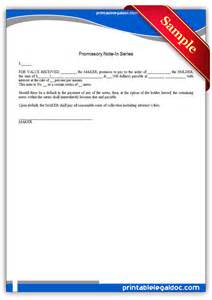 Free Printable Promissory Note Form