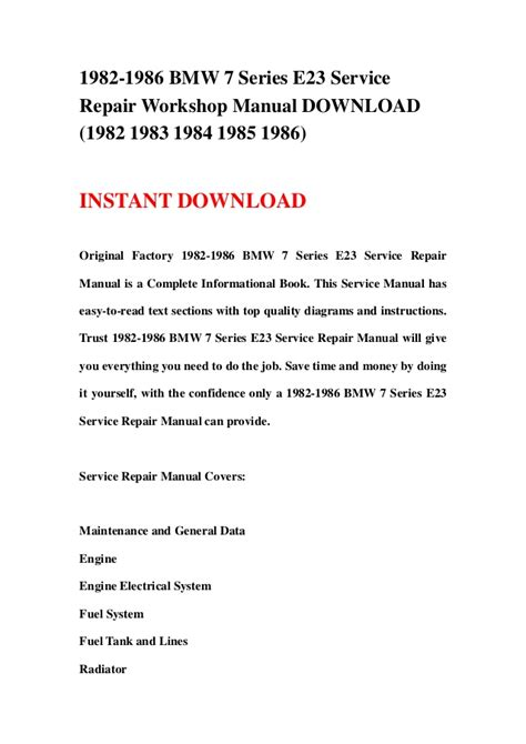 small engine repair training 2002 bmw 7 series electronic throttle control 1982 1986 bmw 7 series e23 service repair workshop manual download 1