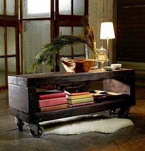 Rustikaler Holztisch Selber Bauen : holztisch selber bauen rustikaler look wohnzimmer design ~ A.2002-acura-tl-radio.info Haus und Dekorationen
