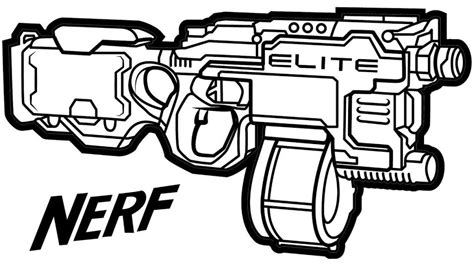 nerf gun coloring pages  coloring pages  kids