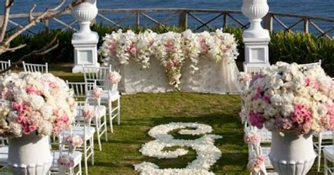 Wedding Ceremony Flowers, Wedding Aisle Décor, Wedding