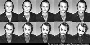 Stages of Heath Ledger/Joker make-up | make-up | Pinterest
