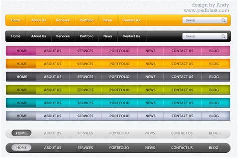 web menu bar psd    part  psdblast