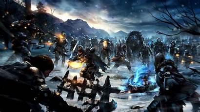 Thrones Scene Battle War Night Wallpapers Desktop