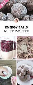 Gesunde Süßigkeiten Selber Machen : vegane energy balls selber machen gratis rezept via essen pinterest energie ~ Frokenaadalensverden.com Haus und Dekorationen
