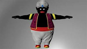 Low Poly Mr Popo From Dragon Ball 3D Print Ready