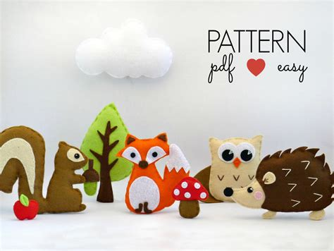 Magicforest Tree Sewing Set sewing pattern woodland animal set includes fox