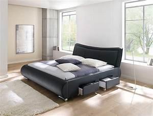 Billige Betten Mit Matratze : polsterbett lando bett 180x200 cm schwarz mit lattenrost ~ Lateststills.com Haus und Dekorationen