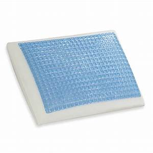 Comfort revolution cool comfort hydraluxe blue squared gel for Comfort revolution hydraluxe gel memory foam bed pillow