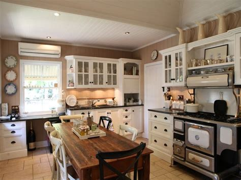 stunning colonial country kitchen    century