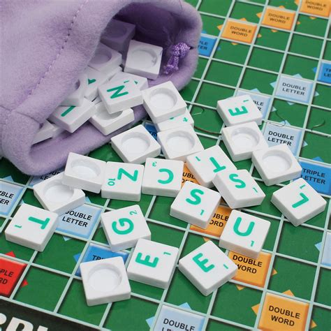 scrabble board game brand crossword game letters tiles for