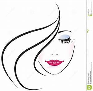Lady Face Clipart