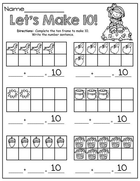 10 with fall 10 frames math ten