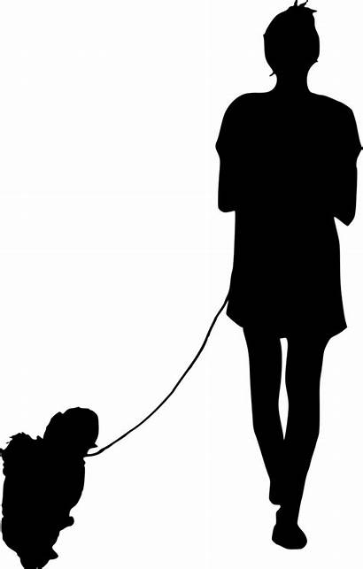 Silhouette Walking Dog Person Transparent Pngkey Onlygfx