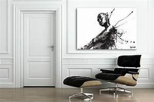 Tableau Deco Noir Et Blanc : tableau grand format modern girl izoa ~ Melissatoandfro.com Idées de Décoration