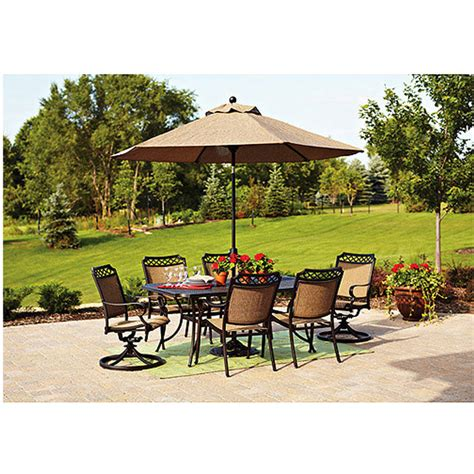 Walmart Patio Umbrella Set by 7 Patio Dining Set Walmart How To Make A Patio Bench