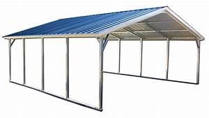 18x21 Vertical Style Metal Carport Alan39s Factory Outlet