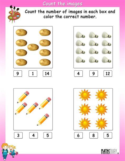 ukg math worksheets page