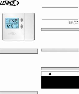 Lennox Comfortsense L3511c Thermostat Installation