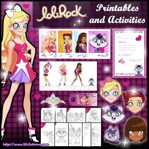Turn on the printer and click on print the drawing. Free LoliRock Printables and Activities - SKGaleana