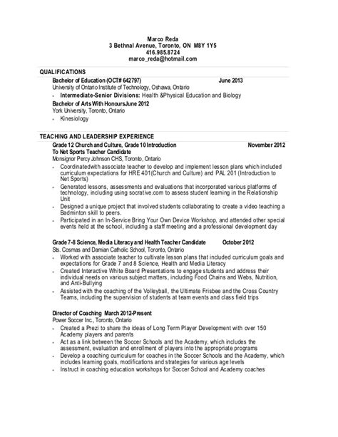 resume format resume templates of toronto