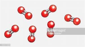 Illustration Of Oxygen Molecules High
