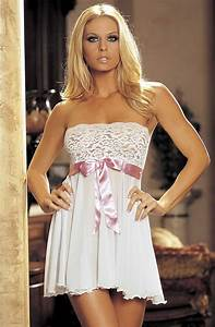 Strapless Babydoll Wedding Dress From Bello Chica Lingerie