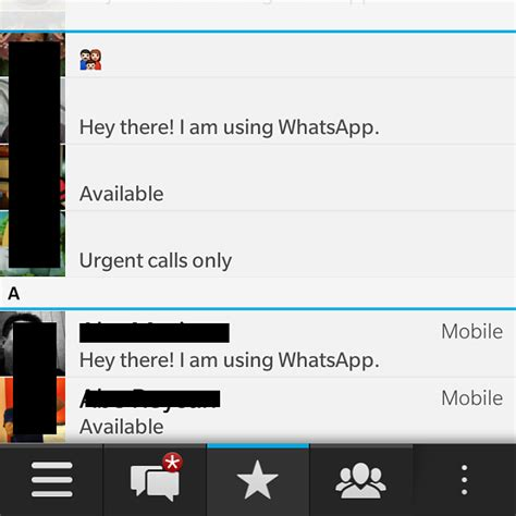 whatsapp contact list problem on blackberry q10