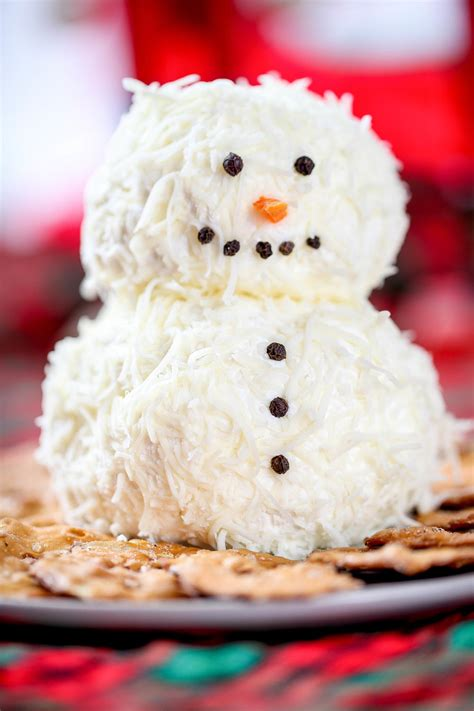 ranch snowman cheeseball recipelioncom